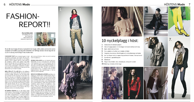 Fashion Report by Åsa Björklund